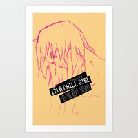 Chill Girl Art Print