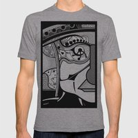 Tribal Design Face - 1 Mens Fitted Tee Athletic Grey SMALL