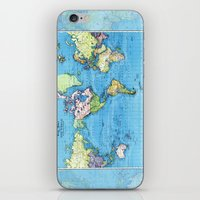 Mercator Map of Ocean Currents iPhone & iPod Skin