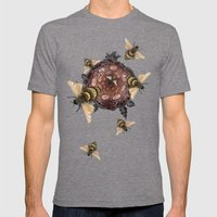Pollen Mens Fitted Tee Tri-Grey SMALL