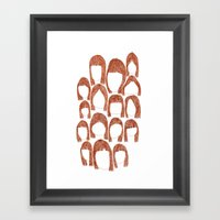 Haunting Hair Framed Art Print