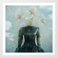 Surrealist Nest Art Print