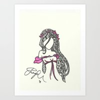 Giselle Zen Tangle Art Print