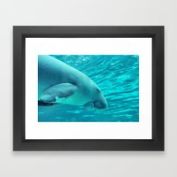 Manatee Framed Art Print