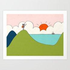 hiker Art Print