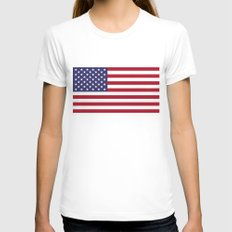 USA National Flag - Auth… Womens Fitted Tee White SMALL