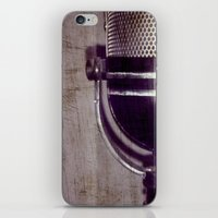 Vintage Microphone (scratched) iPhone & iPod Skin