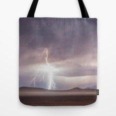 Lightning Strike, Black Rock Desert, NV Tote Bag