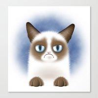 Nope (Grumpy Cat) Canvas Print