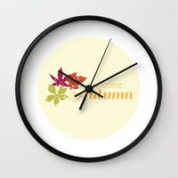 Welcome Autumn Wall Clock