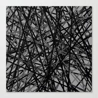 Kerplunk Extended Black and White Canvas Print