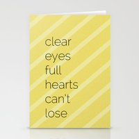 Clear Eyes, Full Hearts,… Stationery Cards