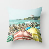 Colorful Holiday Throw Pillow