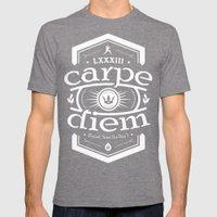 Carpe Diem Mens Fitted Tee Tri-Grey SMALL