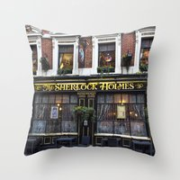 The Sherlock Holmes Pub … Throw Pillow