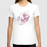 Tiger Skull Womens Fitted Tee White SMALL