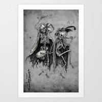 Danse Macabre (variation… Art Print