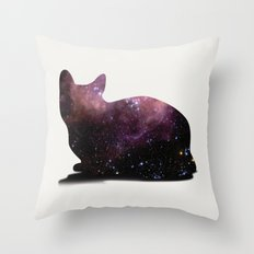 Willow the Galaxy Cat! Throw Pillow