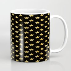 Chic Glam Gold and Black Stars Mug