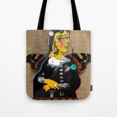 Mona Dora Lisa Maar Collage 1 Tote Bag