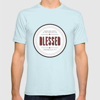 Blessed Mens Fitted Tee Light Blue SMALL