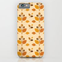 iPhone & iPod Case featuring Fall Acorns Pattern by diane555