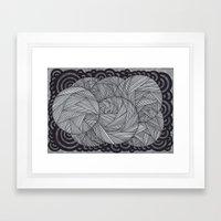 Molecular 6 Framed Art Print