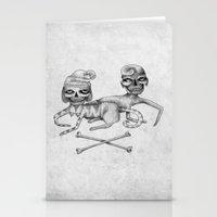 Bone Couple Stationery Cards