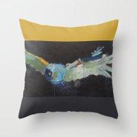 Great Grey Owl pillow Throw Pillow