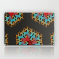 Red, Gold, And Blue On B… Laptop & iPad Skin