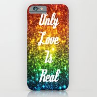 iPhone Cases featuring Only Love is Real Astral Glitter by 2sweet4words Designs