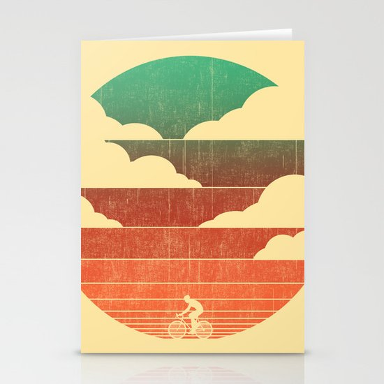 Go West (cycling edition) Stationery Card