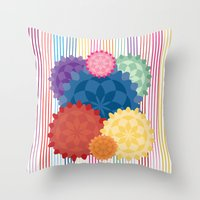Between The Flowers Throw Pillow