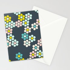 Flower tiles Stationery Cards