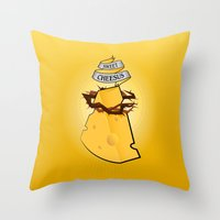 Sweet Cheesus Throw Pillow