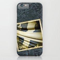 Quebec (Canada) grunge sticker flag Slim Case iPhone 6s