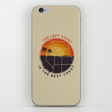 Left Coast Is The Best C… iPhone & iPod Skin