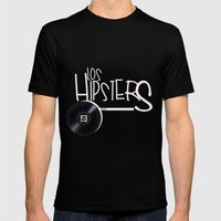 los hipsters del barrio Mens Fitted Tee Black SMALL