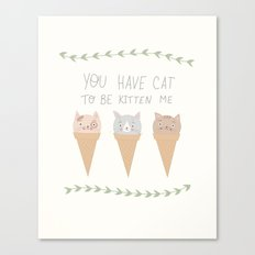 kittycones Canvas Print