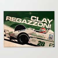 Clay Regazzoni - F1 1979 Canvas Print