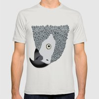 African Grey Mens Fitted Tee Silver SMALL