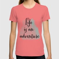 Life is an adventure Womens Fitted Tee Pomegranate SMALL