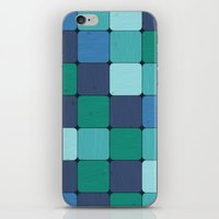 Blue Wood Blocks iPhone & iPod Skin