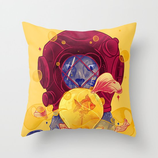 La Lumiere (Yellow) Throw Pillow
