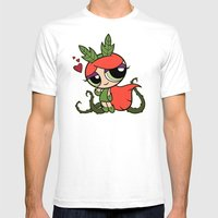 Poison Puff Mens Fitted Tee White SMALL