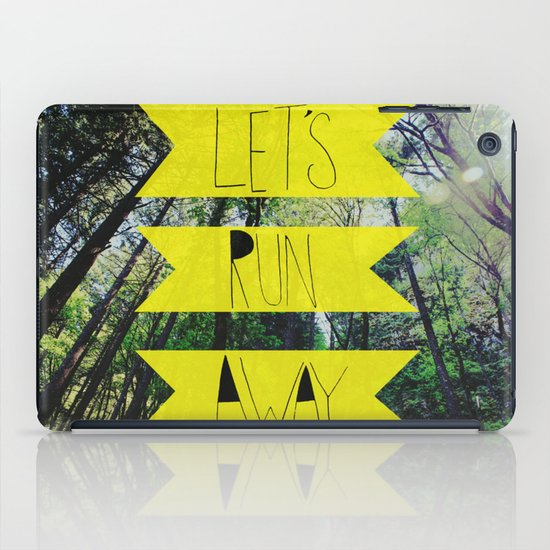 Let's Run Away: Forest Park iPad Case