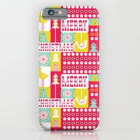 iPhone & iPod Case featuring Festive Christmas Collage by Heather Dutton