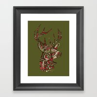 ROAD KILL ~ GREEN Framed Art Print