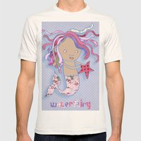 Water Fairy Mermaid Mens Fitted Tee Natural SMALL