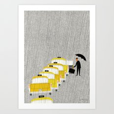 Taxi, New York Art Print